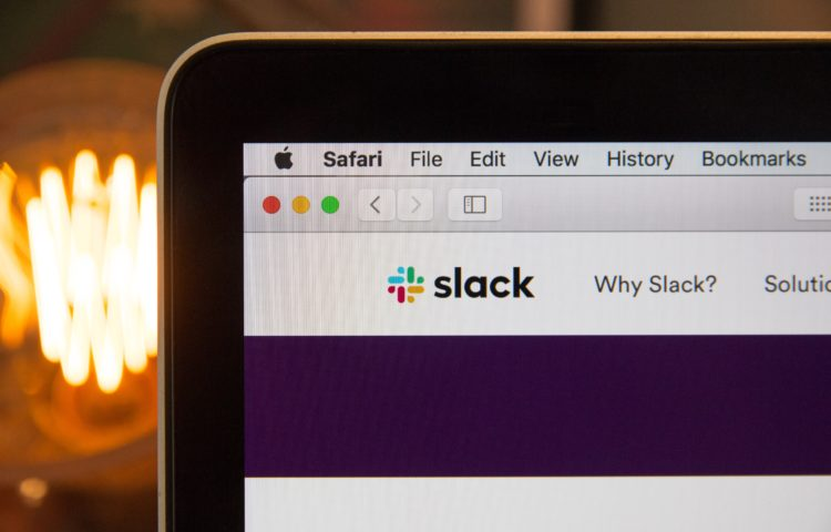 slack laptop screen