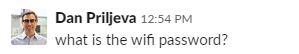 slack wifi password question