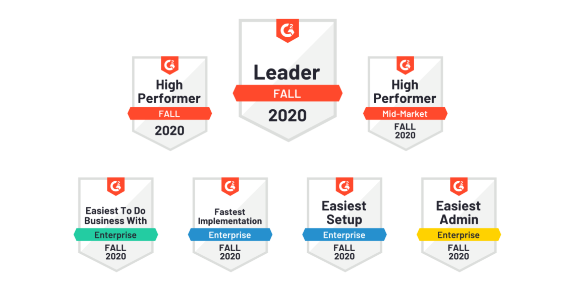 G2 market leader fall 2020 - Obie