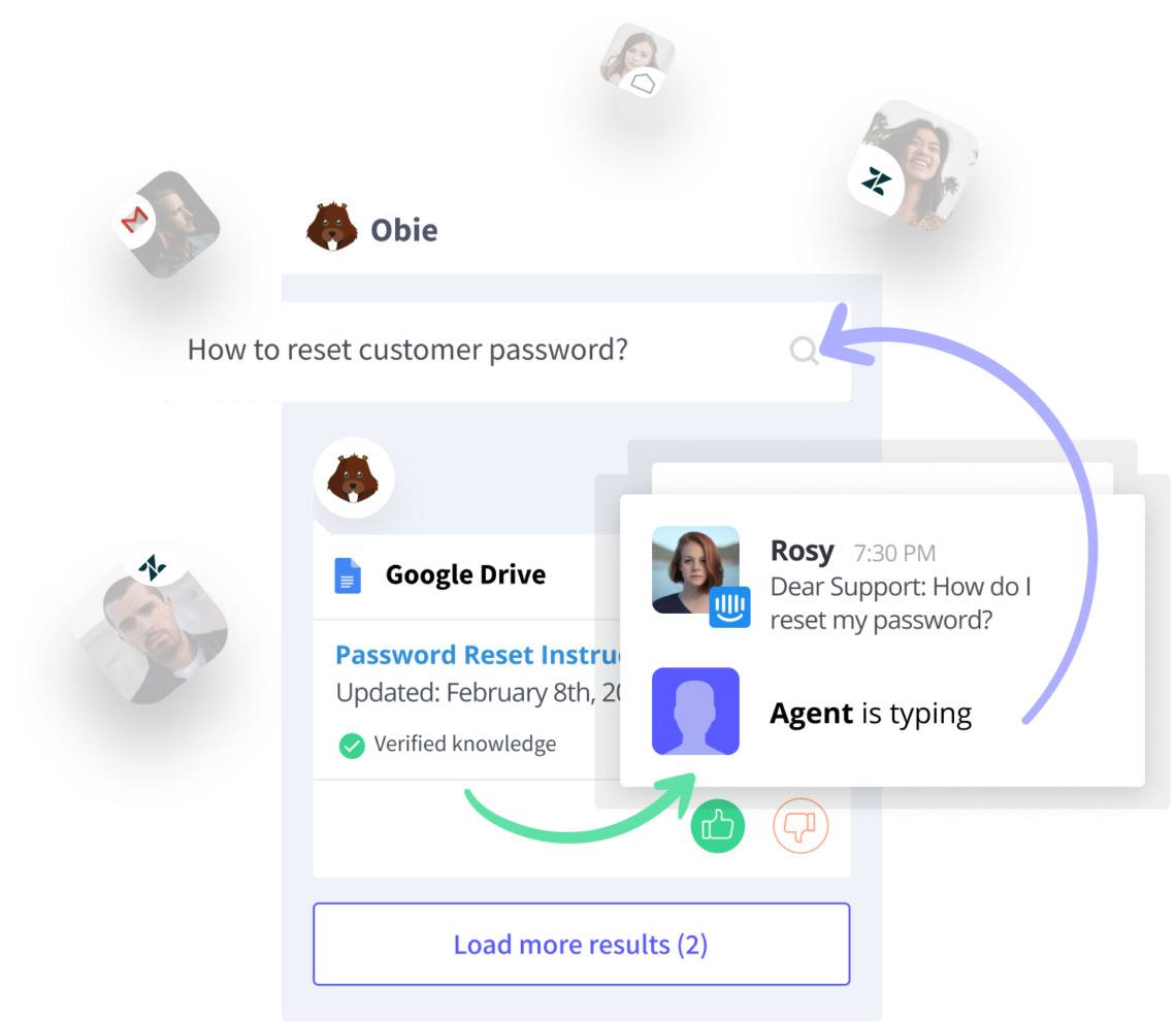 Customer Support workflow with Obie